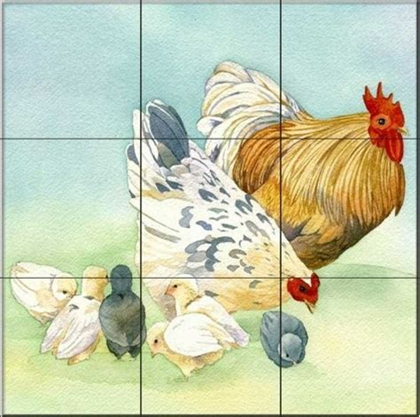 Farm Animal Wallpaper For Kitchen - 17 best images about rooster wallpaper tiles on