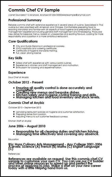 Exle Chef Cv by Exle Cv Chef Uk Assistant Pastry Chef Cv Sle