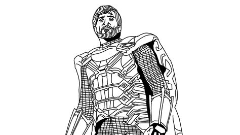 mysterio   home superhero coloring pages