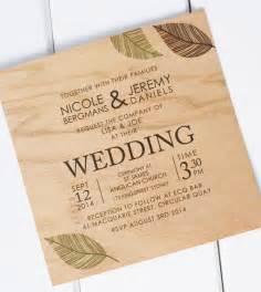 wood wedding invitations wooden wedding invitations from poppiseed designs polka dot