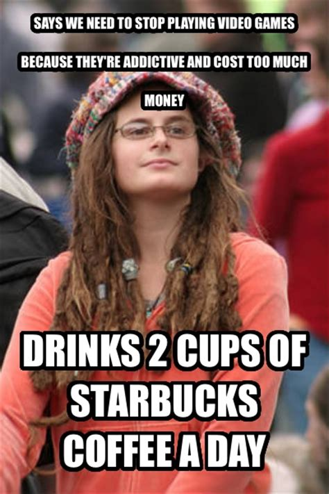 Coffee memes come from a place of shared experience, which is why they're so widely used. livememe.com - College Liberal