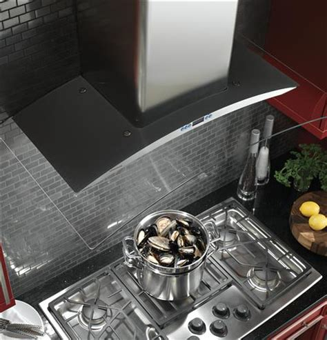zvslss monogram  glass canopy wall mounted hood monogram appliances