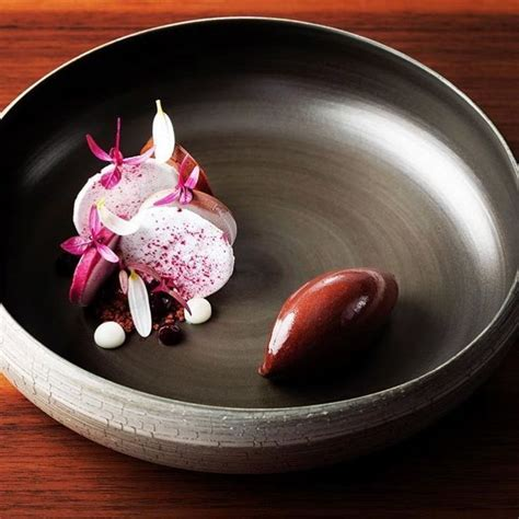 """Don't forget to save room for dessert. FOUR - Fine Dining + Travel on Instagram: """"A chocolate, beetroot and blackcurrant dessert by ..."""