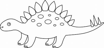 Dinosaur Stegosaurus Coloring Outline Clip Sweetclipart Pages
