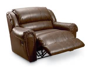 Double Wide Recliner Chair Leather