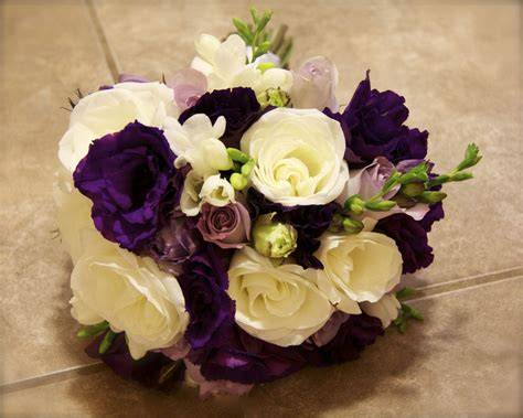 Purple, Silver, And White Wedding