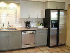 Painted Kitchen Cabinets Before And After Grey by Painting Your Kitchen Cabinets Is Easy Just Follow Our Step By Step Tutorial