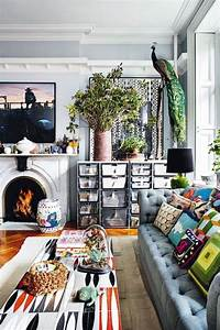 40, Wonderful, And, Colorful, Bohemian, Living, Room, Ideas, For