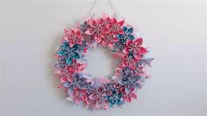 Couronne En Papier à Imprimer : diy fabriquer une couronne de fleurs en papier youtube ~ Melissatoandfro.com Idées de Décoration