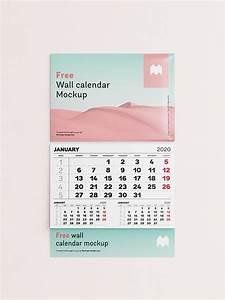 Free, Single, Panel, Wall, Calendar, Mockup