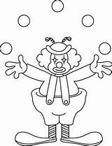 Clown Juggling Coloring Clipart Outline Clip Circus Juggler Face Pages Preschool Carnival Theme Cliparts Activity Cartoon Clipartix Colour 1004 2121 sketch template