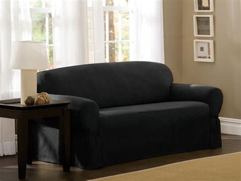 Black Slipcover For Loveseat by 15 Inspirations Of Black Slipcovers For Sofas