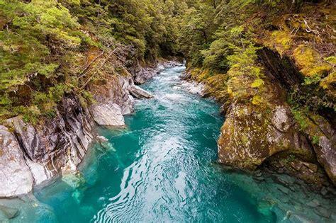 south island  zealand     blue pools