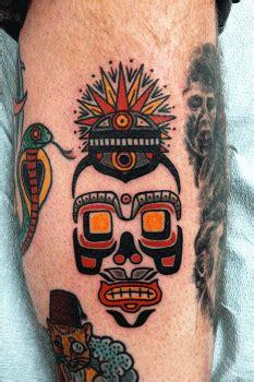 calavera tipo maya tatuajes