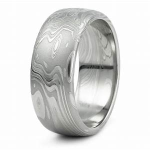 damascus steel domed wedding ring men39s unique organic With damascus steel mens wedding rings