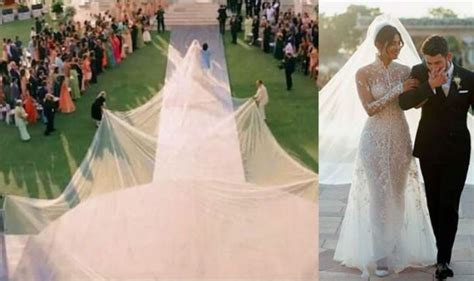 Priyanka Chopra Wedding Dress : Priyanka Chopra Wedding Dress Veil