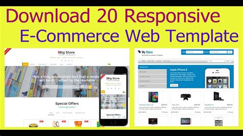 download 20 responsive e commerce free web template 2017