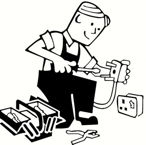 11271 electrician clipart black and white 86 electrician clipart black and white electrician