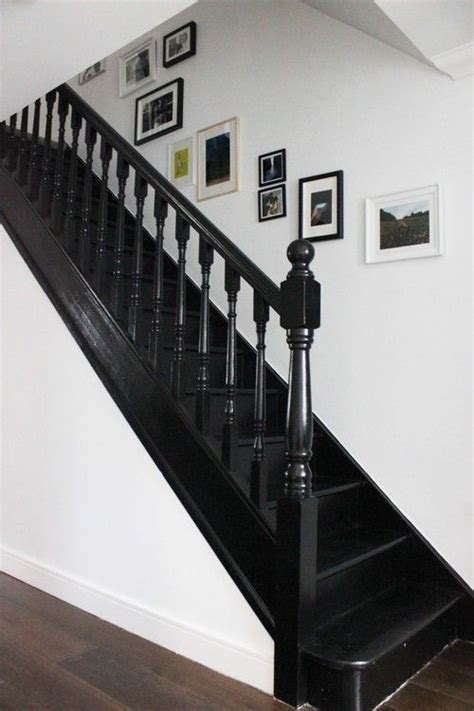 how to paint a banister black best 25 black staircase ideas on black