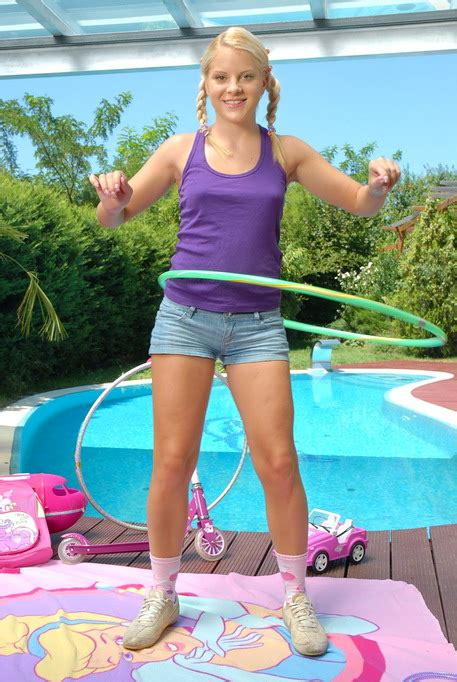 Charming Teen Blonde Switches From Her Cute Toys To A Big