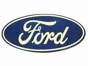 Vintage FORD OVAL EMBLEM Metal Sign Logo Die Cut Garage
