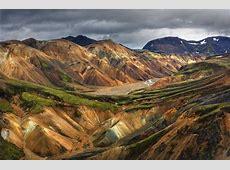 Landmannalaugar Mountains Iceland Pixdaus