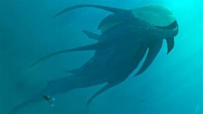Underwater Sea Monsters Monster Wallpapers Deep Joeyjazz