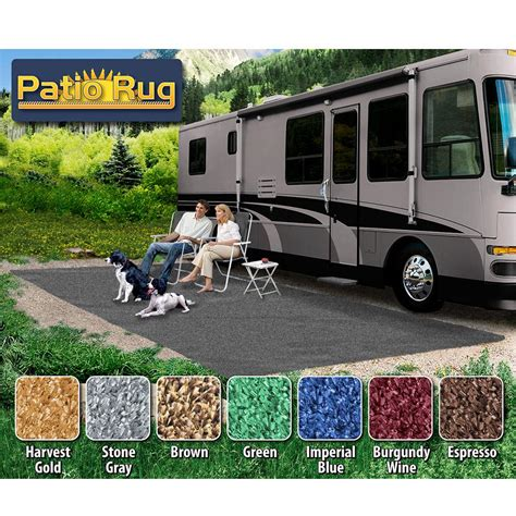 prest o fit rv patio rugs prest o fit patio rug 8 x 20 gray prest o fit