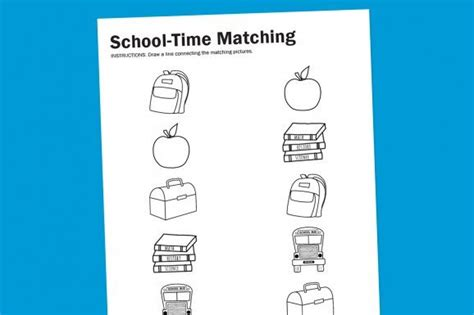 worksheet wednesday school time matching  images
