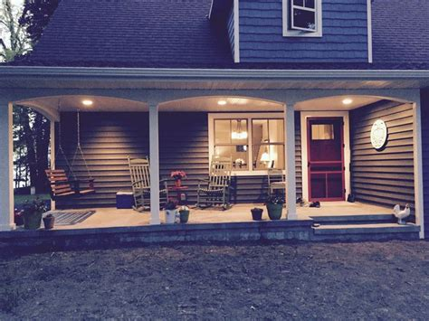 house porch at night back porch at night so peaceful our new blue cottage