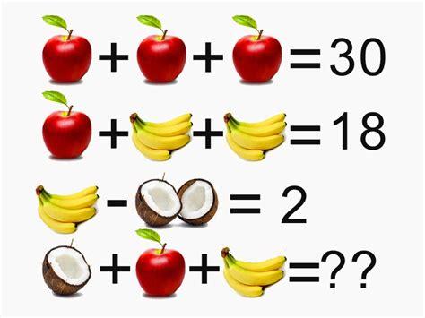 test divertenti per bambini la soluzione rompicapo indovinello della frutta