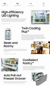 Samsung 25 5 Cu  Ft  French Door Refrigerator With