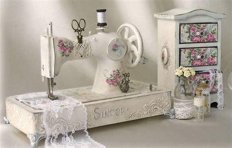 Shabby Chic Sewing Machine And Little Organizer