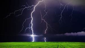 Lightning Storm With Rain - wallpaper.