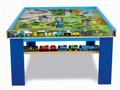 thomas wooden railway table fisher price thomas the train wooden railway play table ebay