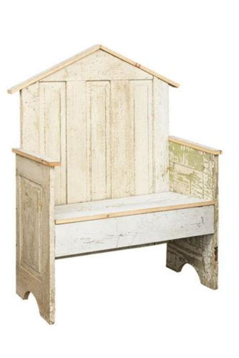 garden display bench handmade repurposed antique farmhouse
