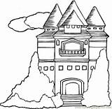 Mansion Coloring Houses Pdf sketch template