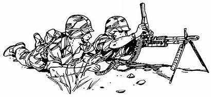 Clip Clipart War Army Military Pages Coloring