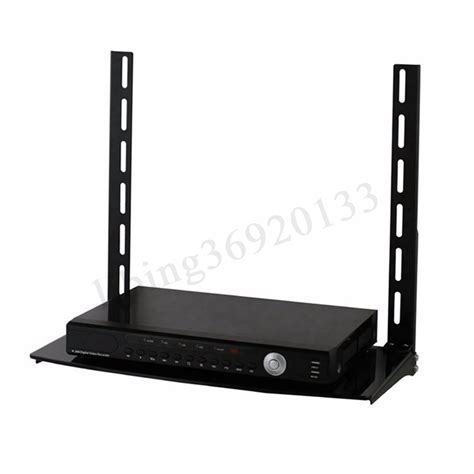 shelf for cable box glass shelf above below tv wall mount bracket