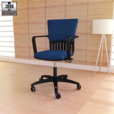 ikea joakim swivel chair 3d model hum3d