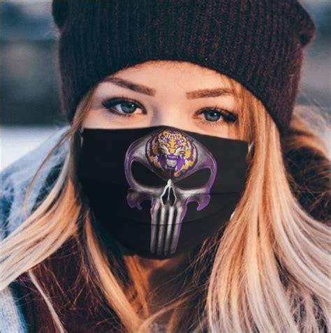 lsu tigers  punisher face mask