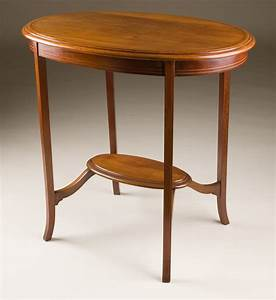 Antique, Oval, Occasional, Table