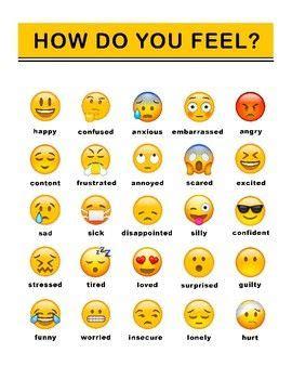 emoji feelings chart feelings chart emoji words feelings