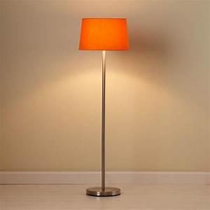 light years orange floor shade and nickel base With floor lamp with orange shade