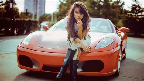 wallpaper model women  cars red cars sports car
