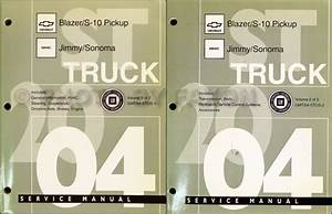 2004 Rainier Trailblazer Envoy Bravada Repair Shop Manual