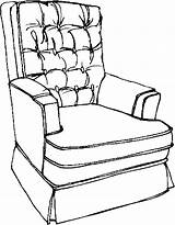 Armchair Furniture Coloring Pages sketch template