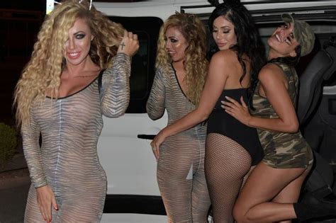 Holly Hagan Struggles To Cover Up In Very Sheer Catsuit