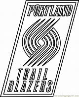 Coloring Blazers Portland Trail Nba Pages Coloringpages101 Whitesbelfast sketch template