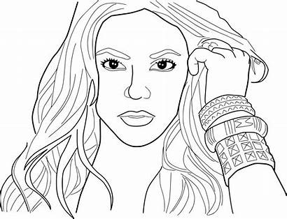 Coloring Shakira Pages Coloriage Sheets Printable Onlycoloringpages